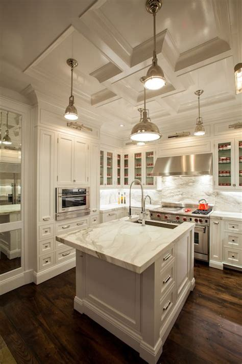 The Renovated Home   white kitchen cabinets, white marble