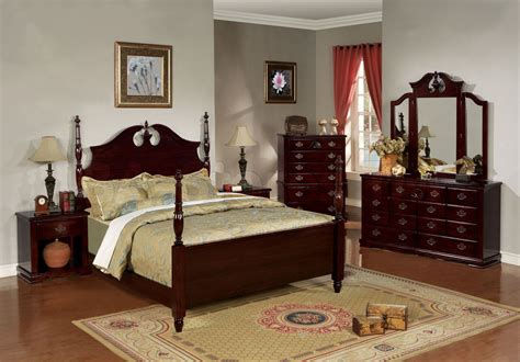 Bedroom Sets Cherry Wood cherry wood bedroom furniture poster bed