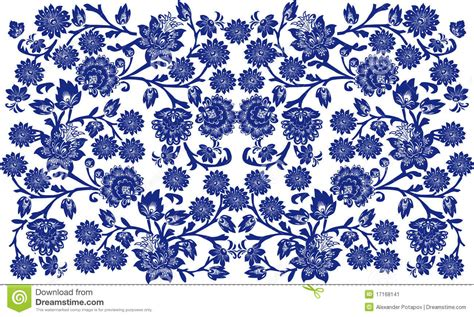 blue and white floor l blue on white floral background stock vector image 17168141