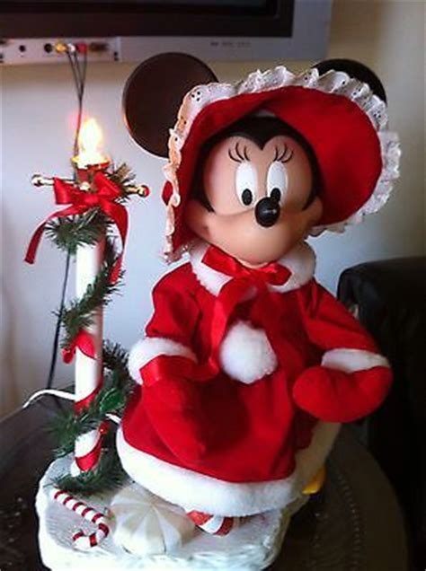 large disney animated moving christmas minnie mouse doll