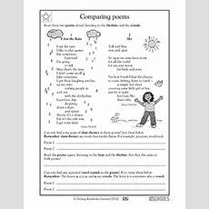 5th Grade Reading Worksheets Poems Comparing Greatschools