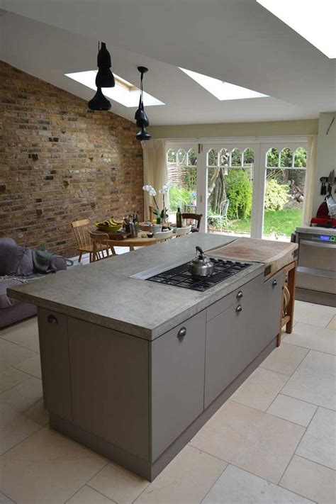ideas for kitchen worktops overview of cast in situ polished concrete worktop