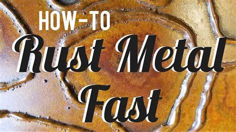 rust metal patina spray fast simple
