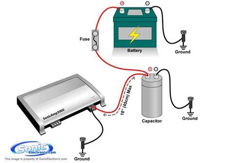 Amplifier Capacitor Install Diagram Car Audio