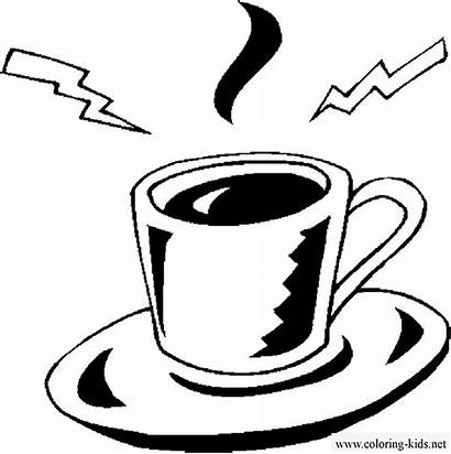 Coloring Pages Drinks Espresso Coffee Drink Juice
