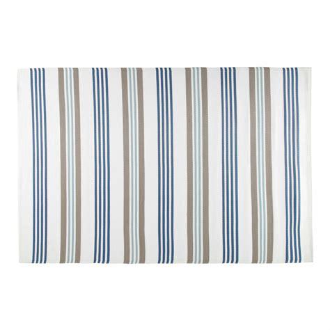 tapis d ext 233 rieur en polypropyl 232 ne beige et bleu 180 x 270