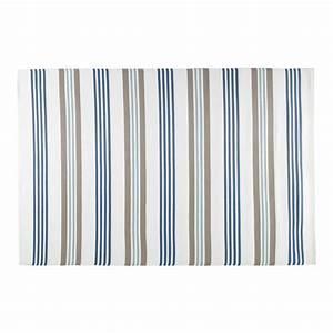 tapis d39exterieur en polypropylene beige et bleu 180 x 270 With tapis exterieur avec housse canapé bleu