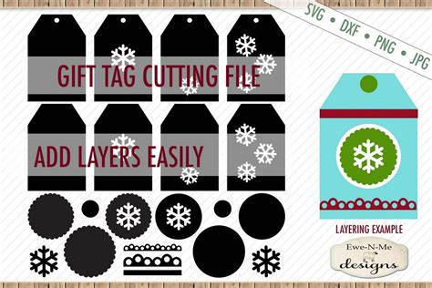 A free snowflake svg to go with a hot cup of cocoa. Snowflake Tag - Gift Tag Cut File - Layered Tags - SVG DXF