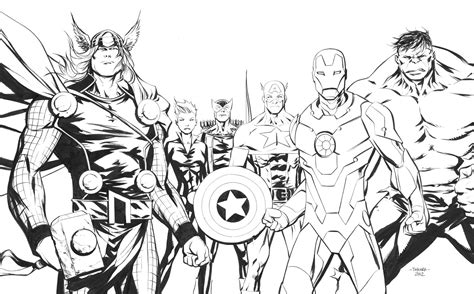 avengers to color for kids avengers kids coloring pages