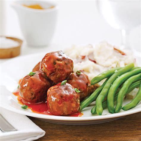 cuisine viande boulettes de viande sauce barbecue recettes cuisine et