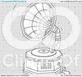 Record Vinyl Gramophone Phonograph Playing Illustration Clipart Vector Royalty Bannykh Alex Clip sketch template