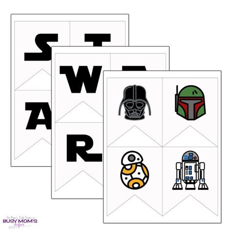 printable star wars banner full alphabet icons busy