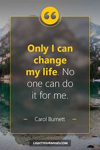 only i can change my no one can do it for me