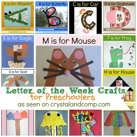 free letter of the week crafts for preschoolers free 339 | Letter of the Week Crafts
