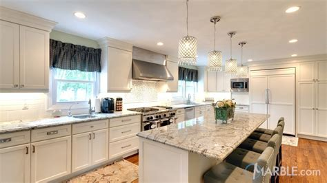 white kitchen cabinets with white marble countertops top 5 kitchen countertop choices for white cabinets 2215