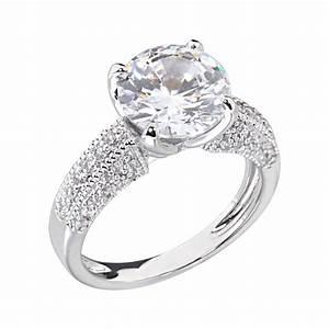 35 carats round cubic zirconia platinum tone brass With platinum cubic zirconia wedding rings