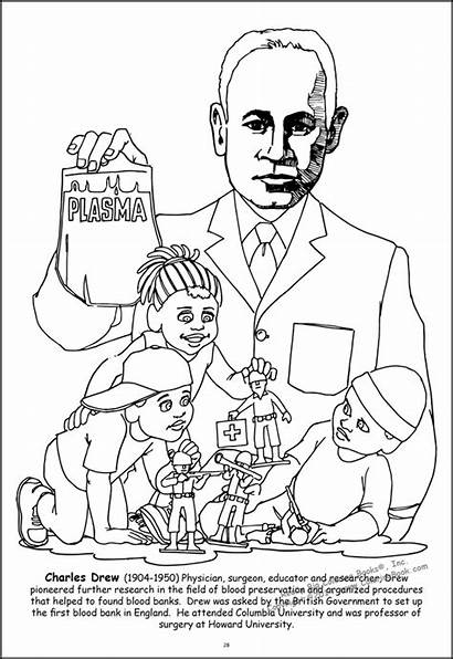 Coloring African American Tablet Leaders Drew Charles