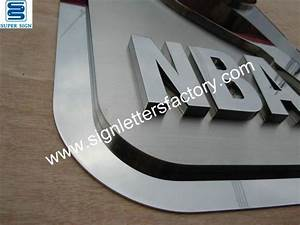 custom stainless steel sign With custom stainless steel letters