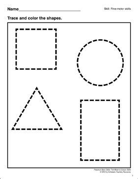 tracing shapes preschool basic skills motor 282 | 9780545429665 011 xlg