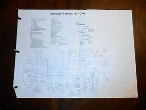 Bmw Oem R60  7 R100s R100 S Dealer Wiring Diagram 1977