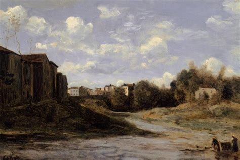 the banks of the midouze mont de marsan as seen from the pont du commerce camille corot