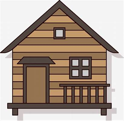 Cartoon Hut Cabin Cottage Clipart Forest Vector