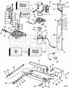 Volvo Penta Exploded View    Schematic Power Trim System Tsk Sx