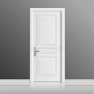Porte D Entrée Blanche : illustration blanche ferm e de vecteur de porte d 39 entr e ~ Melissatoandfro.com Idées de Décoration
