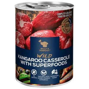 We still need to estimate the product's meat content before determining a final rating. Billy + Margot Canned Dog Food Wild Kangaroo Casserole ...
