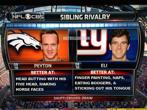 real eli  peyton manning sibling rivalry comparison
