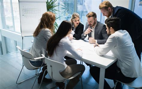 people    discuss  business plan stock
