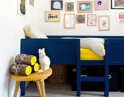 chambre bleu enfant peinture gris bleu pour chambre