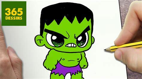 comment dessiner hulk kawaii etape par etape dessins kawaii facile youtube