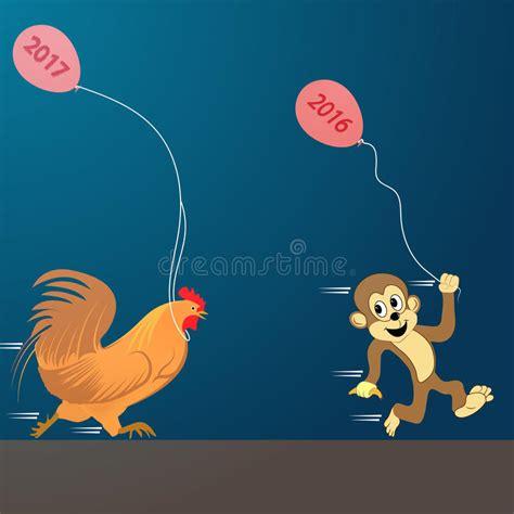 vettore di buon natale nuovo anno 2017 gallo illustrazione vettoriale illustrazione di