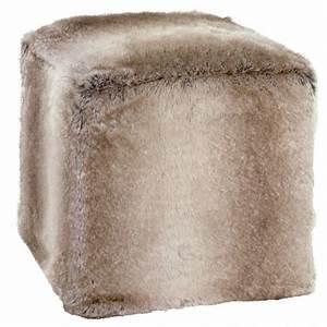 Pouf Fausse Fourrure : pouf cube en fausse fourrure yukonwolf sur moinat sa antiquit s d coration ~ Teatrodelosmanantiales.com Idées de Décoration