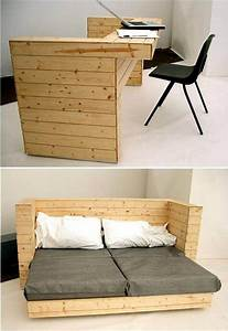 30 easy pallet ideas for the home pallet furniture diy for Diy convertible sofa bed
