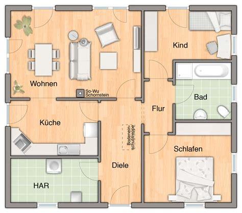 Grundriss Bungalow 3 Zimmer by Der Bungalow 92 Grundriss Bungalow 92 3 Zimmer Variante
