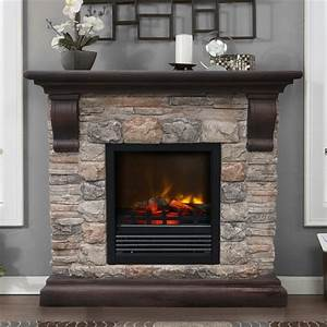Paramount ef 202m kit kampen faux stone electric fireplace for Faux stone fireplace hearth