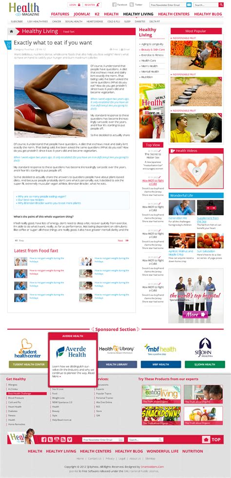 Sj Health Medical Magazine Template  Joomla Themes On