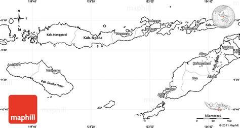 blank simple map  east nusa tenggara