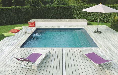 piscine bois avec escalier integre volet roulant piscine escalier de cote