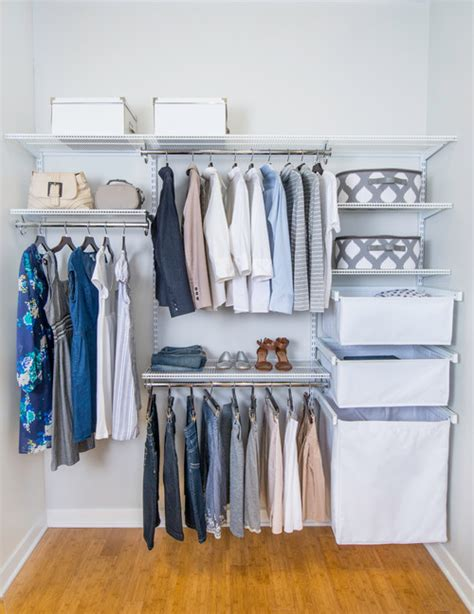 Finds Living In Closet by How To Organize A Small Closet Houzz Closet Organization