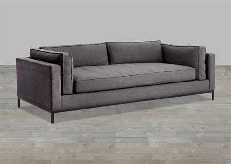 single cushion loveseat charcoal linen sofa with single seat cushion