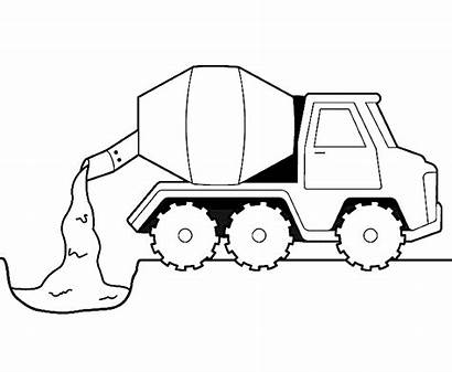 Cement Coloring Truck Construction Pages Printable Mixer