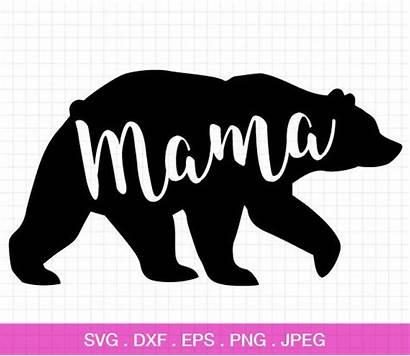 Mama Bear Svg Papa Cricut Silhouette Decal