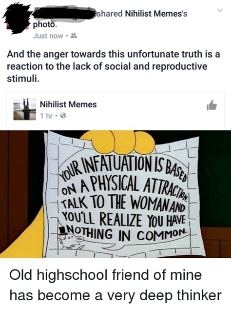Nihilist Memes - shared nihilist memes photo just now and the anger towards this unfortunate truth is a reaction