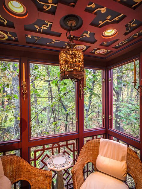 Baroque Fretwork mode Chicago Asian Porch Image Ideas with
