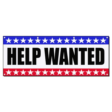 help wanted help wanted business sign banner 4 x 2 w 4 grommets ebay