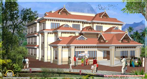3d House Designs : 5 Kerala Style House 3d Models