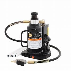 Omega 18202b 20 Ton Hydraulic Air  Manual Bottle Jack  Welded